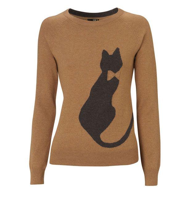 बिल्ली ठाठ: दृष्टि में एक टेपेस्ट्री वेस्ट के बिना किटी-थीम वाले कपड़े